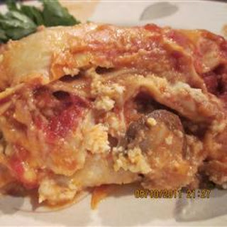 Italian Sausage and Mushroom Lasagna with Bechamel Sauce