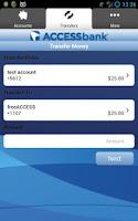 Screenshot of Access Bank Mobile