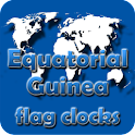 Equatorial Guinea flag clocks icon
