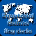 Equatorial Guinea flag clocks icon