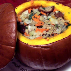 Stuffed Pumpkins with Herbs and Bread Crumbs