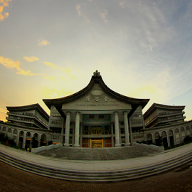 A Dusk @ Tzu Chi Center by Joshua Sujasin - Buildings & Architecture Places of Worship ( tsu chi center, pik, north jakarta, buddhist foundation )