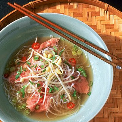 Pho (Vietnamese Beef and Noodle Soup)