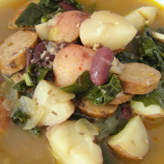 Azorean Kale, Sausage, and Bean Soup