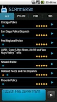 Screenshot of Scanner911 Police Scanner