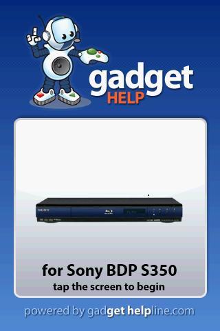 Sony BDPS350 - Gadget Help