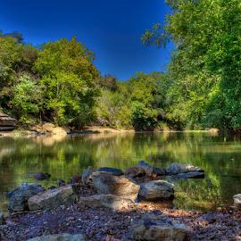 Reflection by Barton Bishop - Landscapes Waterscapes ( reflection, waterscape, creek, state park, tennessee, landscape, river )