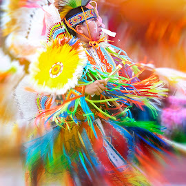 Eagle Dance by Heather Allen - People Musicians & Entertainers ( bright, colors, ribbons, minnasota, feathers, native american, mississippi, lakota, minnesota, native, movement, wababsha, dance, twirl,  )
