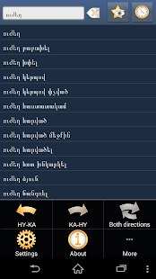 Armenian Georgian dictionary - screenshot