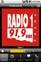 Screenshot of Radio 1 Czech Republic