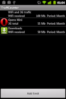 Screenshot of Net Traffic Counter Free