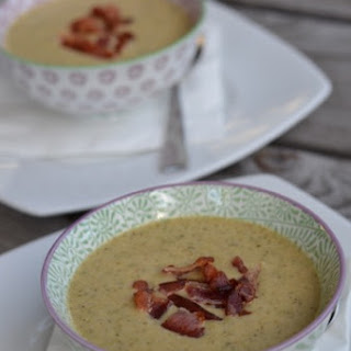 Broccoli Cheese Soup (with bacon!)