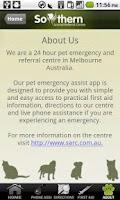 Screenshot of Pet Emergency Assist
