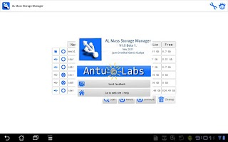 Screenshot of AL Mass Storage Manager