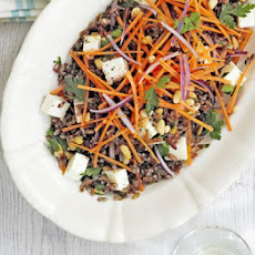 Camargue Red Rice Salad With Feta & Pine Nuts
