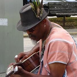 Street Music by Judy Dean - People Musicians & Entertainers ( music, street, guitar, musician, entertainer,  )