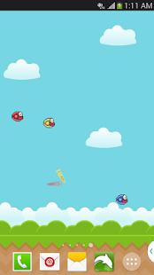 Flapping Bird Live Wallpaper - screenshot