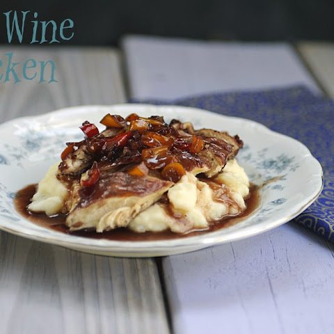 Chicken with Red Wine Sauce