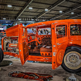 Orange Sedan by Ron Meyers - Transportation Automobiles