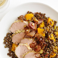 Roasted Pork With Lentils