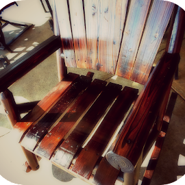 Hand-hewn Rocker by Regina Watkins - Artistic Objects Furniture (  )