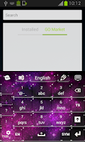 Screenshot of Pink Galaxy Keyboard