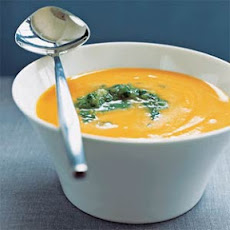 Carrot Soup with Tomatillo Relish
