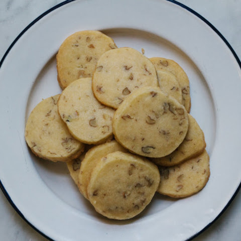 Wild Hickory Nut Shortbread Cookies
