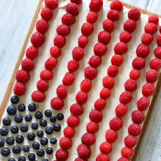 Red White + Blue Fruit Pizza