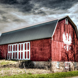 Barn Art by Jim Anderson - Buildings & Architecture Other Exteriors ( clouds, sky, hdr, barn, colorful )