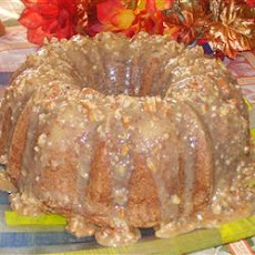 Jim's Apple Raisin Pound Cake with Praline Glaze