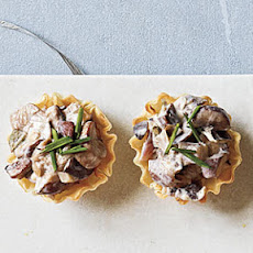 Creamy Wild Mushroom and Goat Cheese Cups