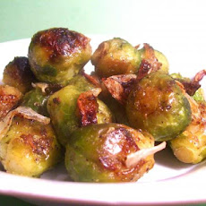 Roasted Brussels Sprouts and Red Onions