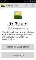 Screenshot of Wake-up Light
