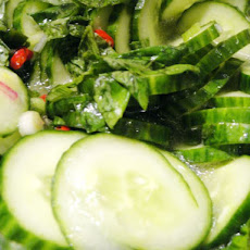 Cook the Book: Cucumber Salad with Lemon Basil