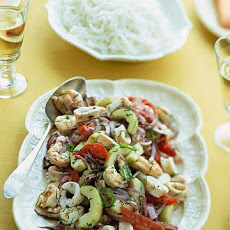 Warm Thai Squid and Shrimp Salad