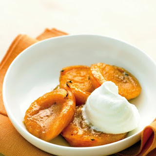 Broiled Apricots with Ginger Whipped Cream