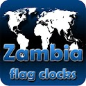 Zambia flag clocks icon