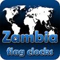 Zambia flag clocks