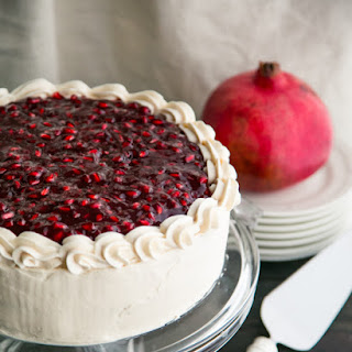 Pomegranate Christmas Cake