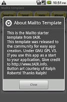 Screenshot of Mailto Starter Template