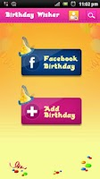 Screenshot of Birthday Wisher
