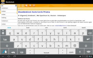Screenshot of Woordenboek Nederlands Prisma