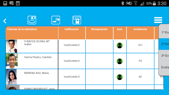 Aula1 Profesores - screenshot