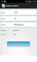 Screenshot of AirDb (ICAO IATA Database)