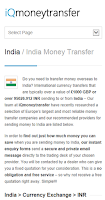 Screenshot of Money Transfer