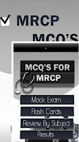 Screenshot of MRCP MCQ's Exam Questions