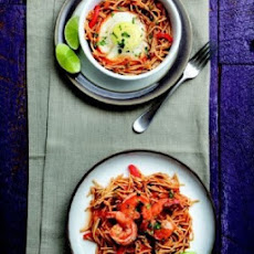 Spanish-Style Fideos with Shrimp or Egg