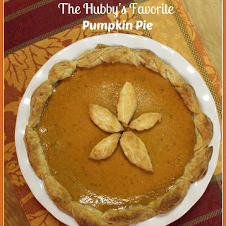 The Hubby's Favorite Pumpkin Pie
