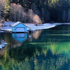 Devil's Lake by Gabriel Gutierrez - Landscapes Forests ( washington, devil's lake, nature, fall, cascade loop,  )